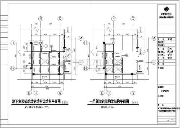 某钢结构电梯井道设计cad施工图