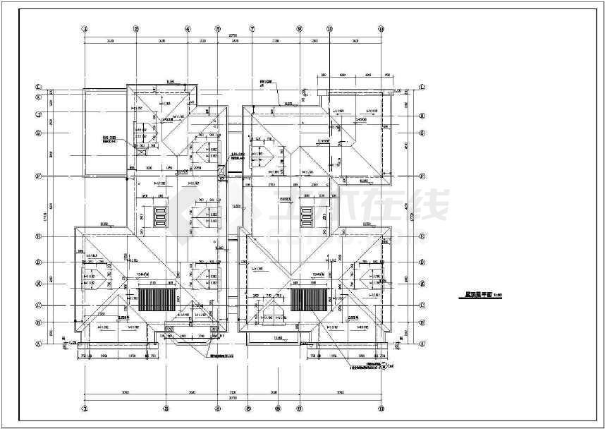 某地三层双拼别墅施工图(含建结水电)-图3