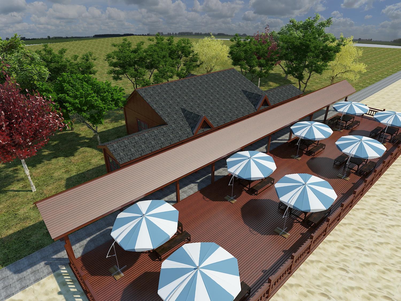 图库 模型 3dmax模型(3dmax模型下载)  建筑模型  沙滩木屋休息亭3d
