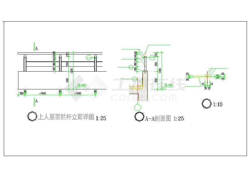 某地八层框架结构厂房建筑设计施工图-图1