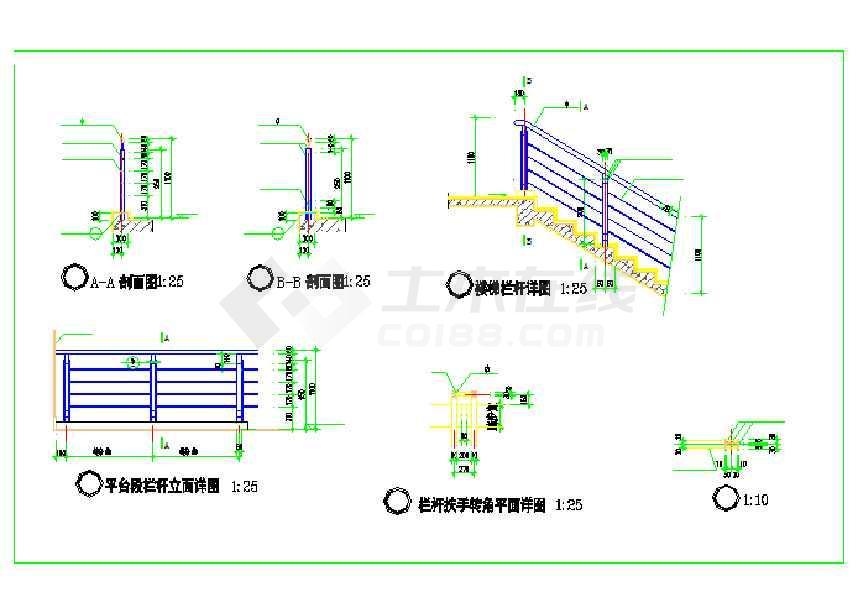 某地八层框架结构厂房建筑设计施工图-图2