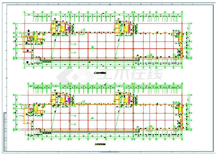 某地八层框架结构厂房建筑设计施工图-图3