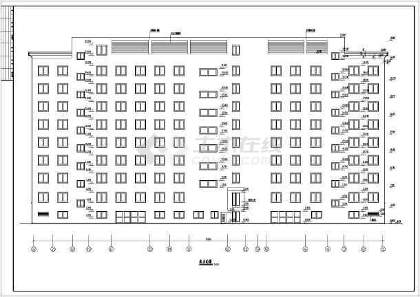 大型二类独栋商务办公楼建筑设计CAD施工图(含详细设计说明)-图1