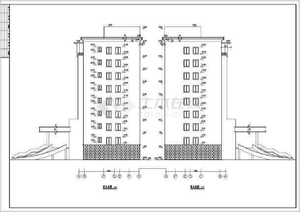 大型二类独栋商务办公楼建筑设计CAD施工图(含详细设计说明)-图2