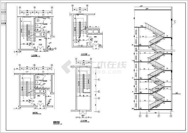 大型二类独栋商务办公楼建筑设计CAD施工图(含详细设计说明)-图3