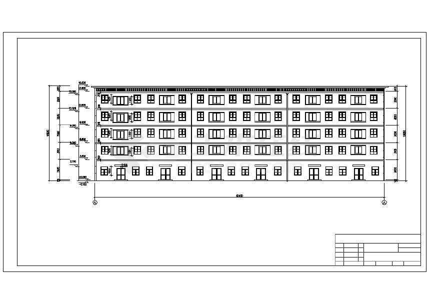 4层综合楼计算工程量图纸工程量建筑清单图纸工业厂房建筑设计图片