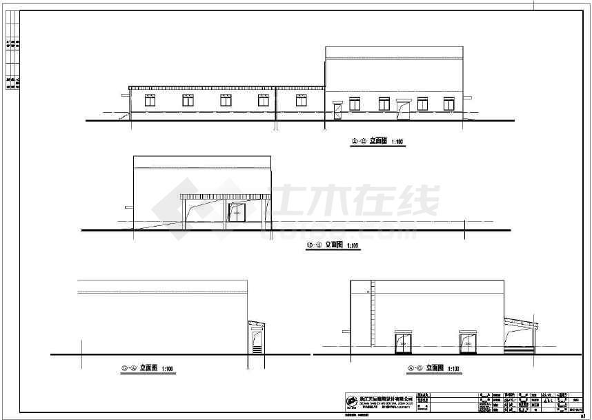 某框架结构局部钢结构食堂会议室建筑cad设计施工图