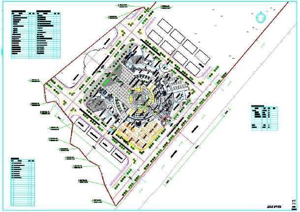 大型文化广场景观工程施工cad设计平面图纸图片1