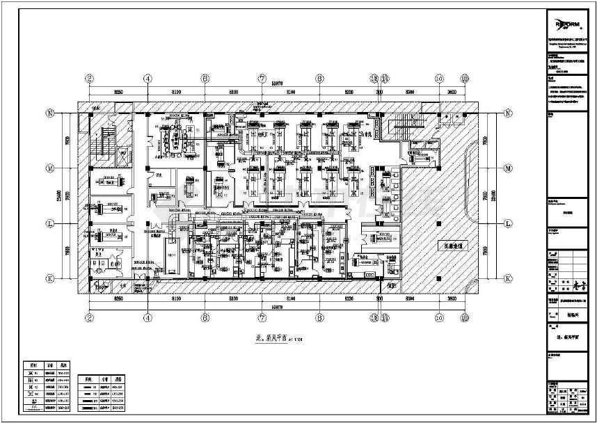 某医院检验科三层暖通空调施工设计图纸图片