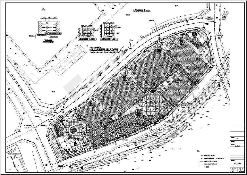 工厂生产车间厂房基地项目电气全套cad设计施工图(含办公楼、门卫室、设备用房、研发中心电气施工图)-图3