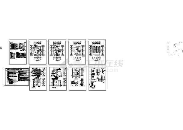 280套别墅新商人自建房民用住宅楼建筑施工图魔兽世界图纸级3农村