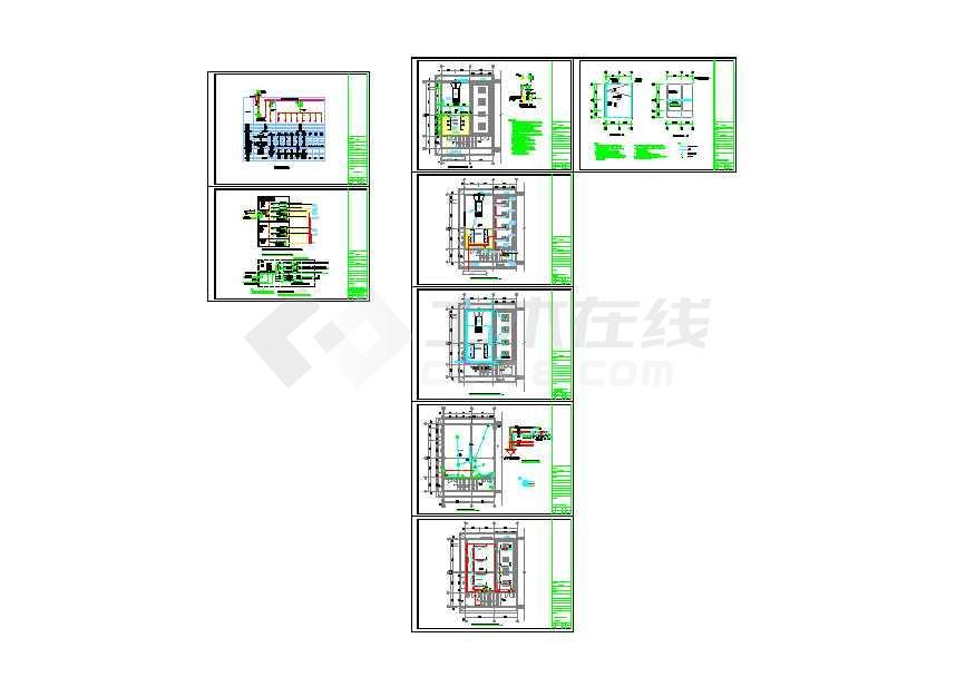 工厂生产车间厂房基地项目电气全套cad设计施工图(含办公楼、门卫室、设备用房、研发中心电气施工图)-图2