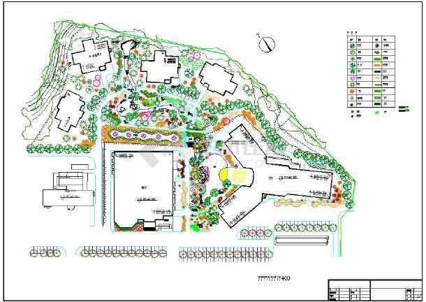 某休闲度假村方案设计cad竖向平面图cad工具箱燕秀2007图片