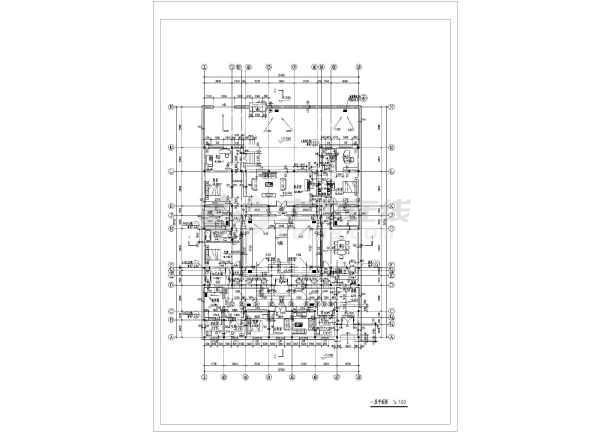 某单层四合院住宅建筑平立面设计图 共4张