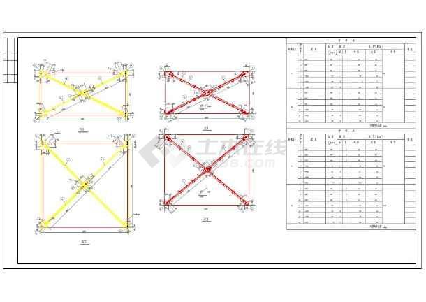 18m钢结构厂房结构设计cad图纸