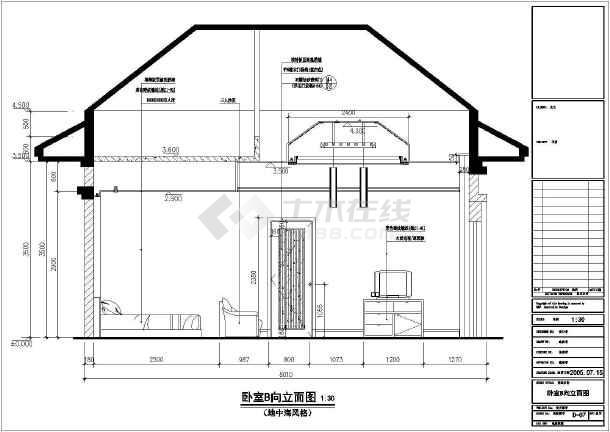 某地中海图纸别墅装修设计施工全套(风格)图纸v图纸常见问题图片