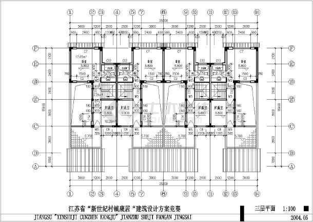 某农村自建房建筑设计CAD及户型设计图