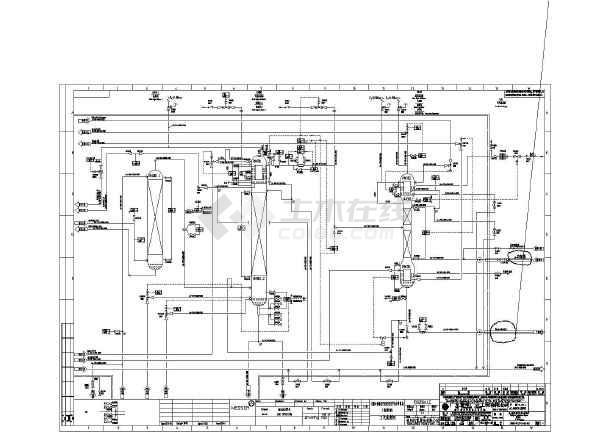 空分工段流程图CAD图(17张)鼓风机回转式cad图图片