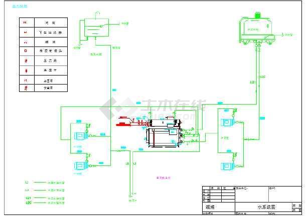 某地区小型工厂直燃式冷热水机工艺图图片1