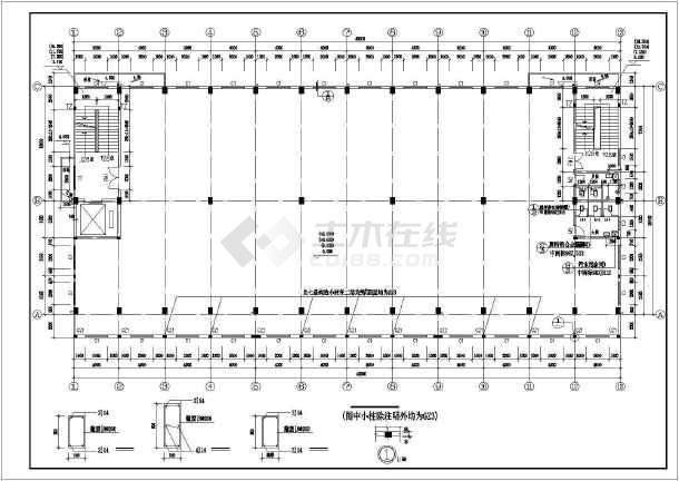 6层厂房建筑cad设计施工图纸全套