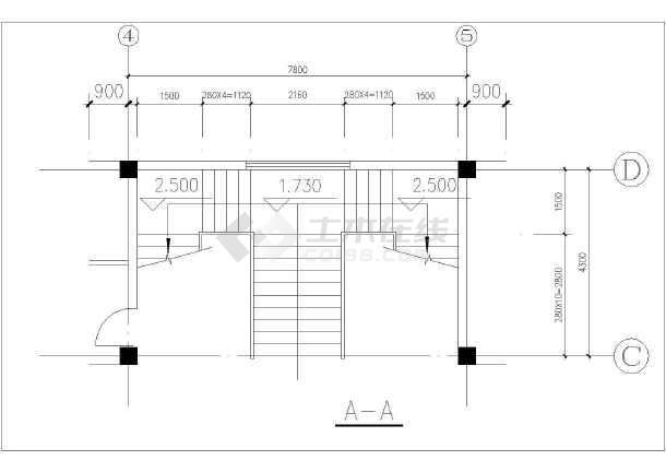 三层楼图纸详细施工cad楼梯设计图纸_cad图纸cada4画制图大样图片