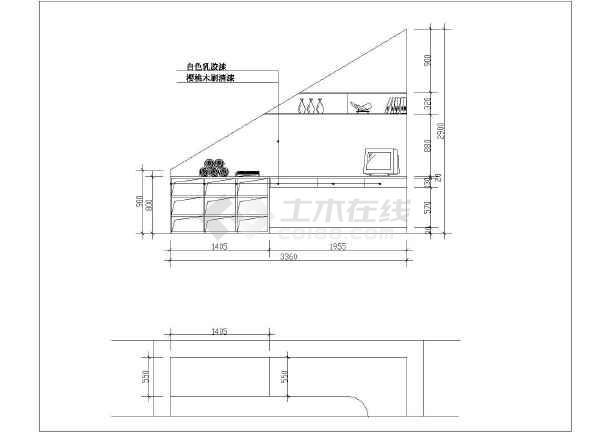 某复式图纸楼装修设计全套(图纸)雨篷家庭v复式钢梁图片