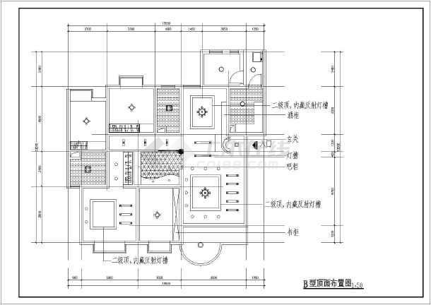 家装装修设计平面布置图(共5张)