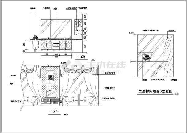 某别墅全套装修设计施工图(共15张)图片