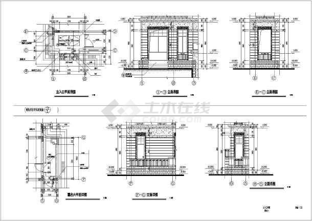 新现代风格别墅建筑结构设计施工图