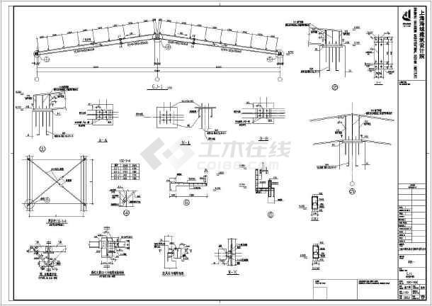 某地区厂房样式标准建筑完整设计施工工厂图纸v厂房打印