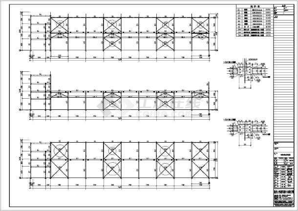 路径钢结构图纸线路设计图CAD10千伏全套厂房双层图片