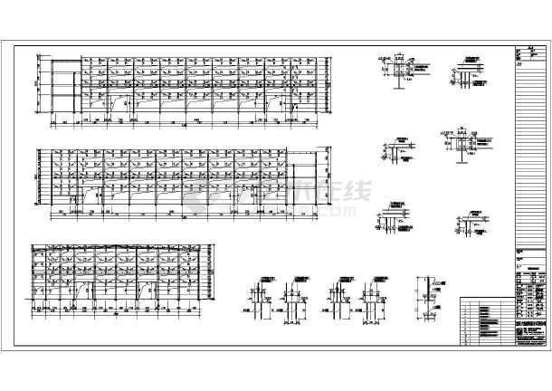 【钢结构双层】攻略钢结构厂房图纸设计图CA全套最新炼厂房金龙图片