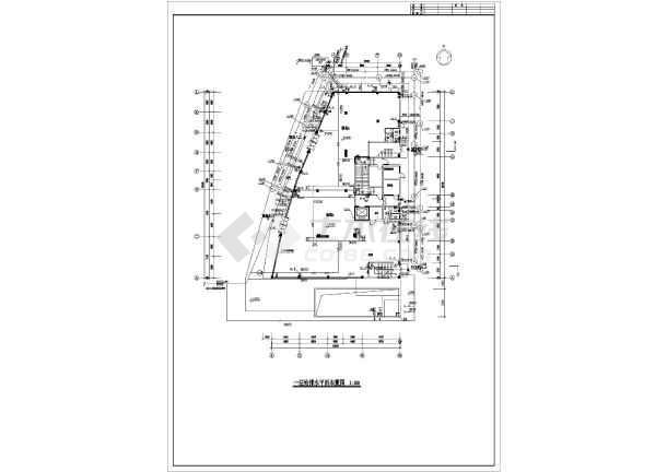 江苏某地区办公楼给排水设计cad施工图-图2