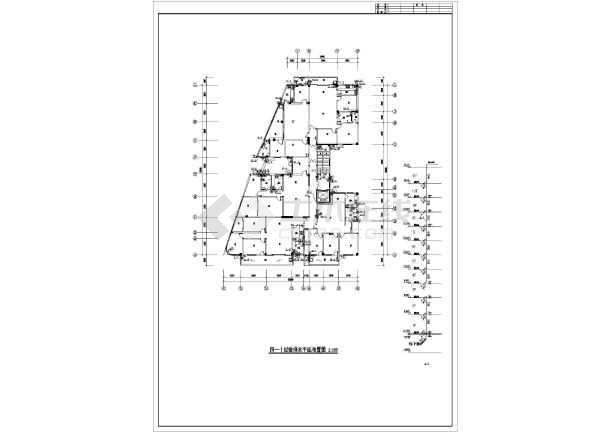 江苏某地区办公楼给排水设计cad施工图-图3