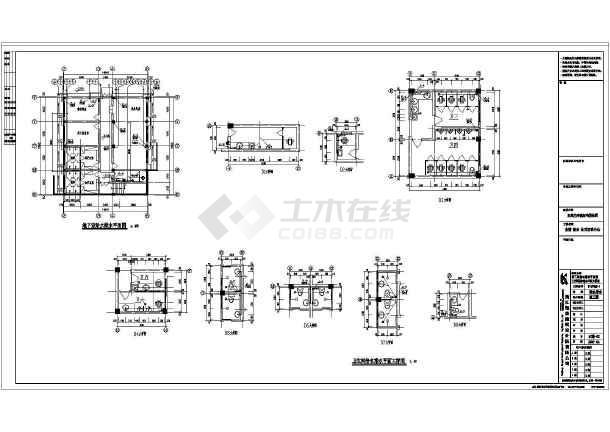 四川某地区公司给排水设计cad图纸-图1