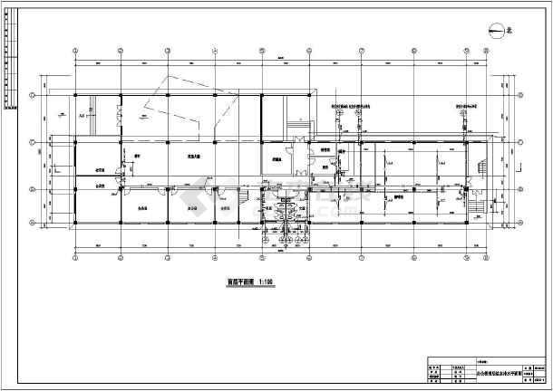 常州某地区三层办公楼给排水设计cad图纸-图3