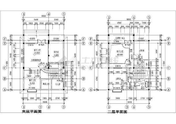 精巧三层半美观新农村自建房屋建筑设计图