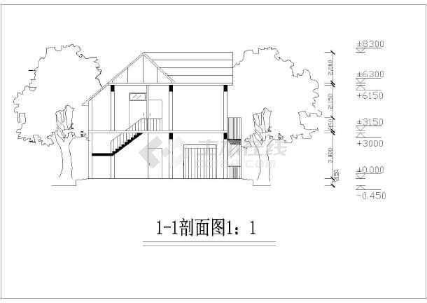 精美别致二层农村房屋详细建筑设计图-图七