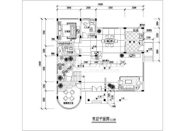 古典三层坡屋顶自建房屋详细建筑设计图-图七
