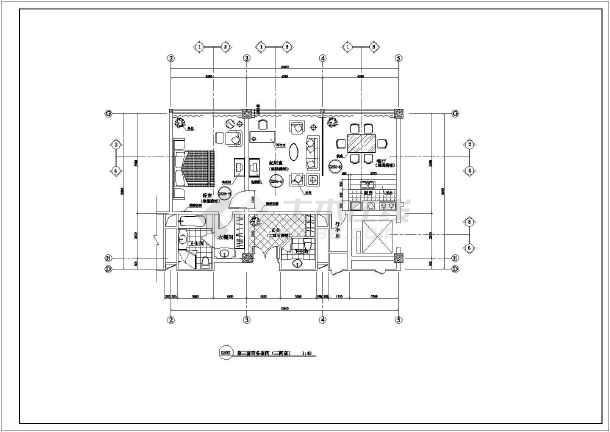 某酒店客房平面设计方案cad图纸图片3-五星级酒店客房平面图