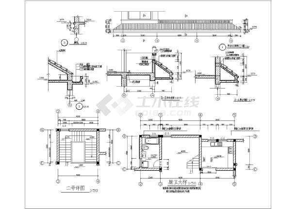 5套别墅建筑结构施工图纸(共32张)