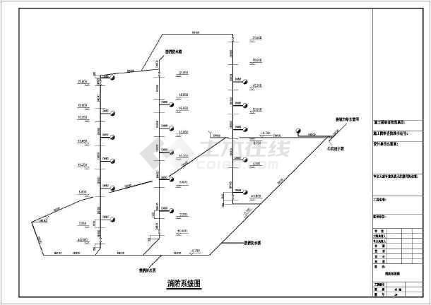 贵州某地区六层办公楼给排水设计cad图-图3