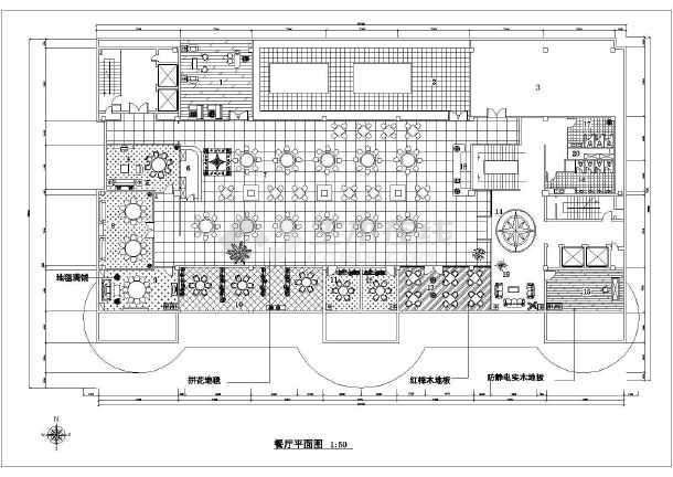 某酒店餐厅装修设计方案图纸(共6张)