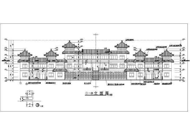 仿古建办公室设计施工图(仿古建筑设计)