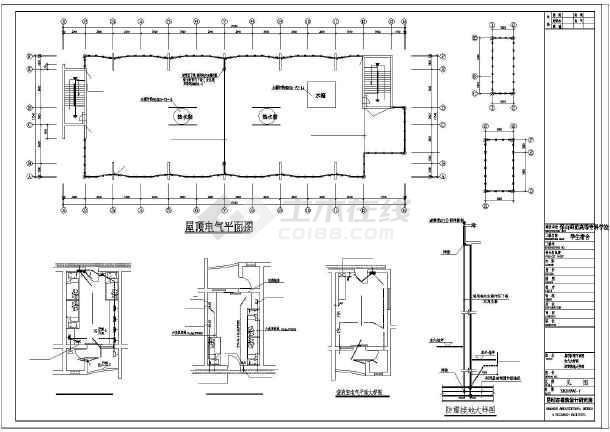 某市中学生工程图纸CAD设计施工电气图纸文件公寓编号图片