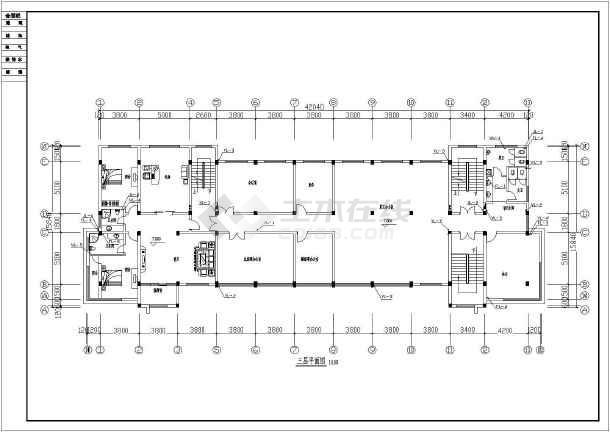 贵州某地公司独栋6层综合办公楼给水排水设计cad施工方案图-图1