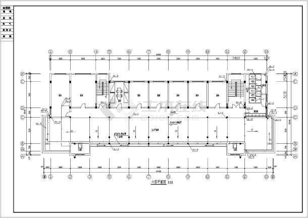 贵州某地公司独栋6层综合办公楼给水排水设计cad施工方案图-图2
