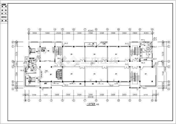 贵州某地公司独栋6层综合办公楼给水排水设计cad施工方案图-图3