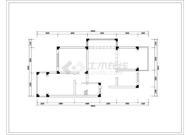 某两室两厅家居装修设计图(共13张)