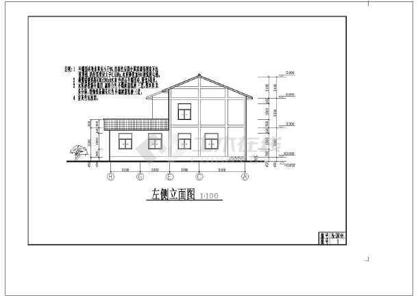 砖混二层质朴农村房屋详细建筑设计图